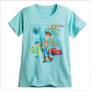 Disney Womens Toy Story T-Shirt Aqua X-Large